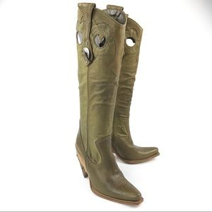 New! Christian Dior Women's Cowboy Pull on Boots